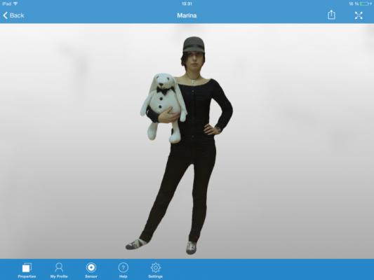 Escaneando personas con el Ipad #3D