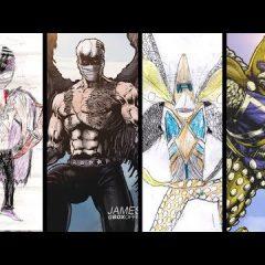Superheroes inspirados en dibujos de niños