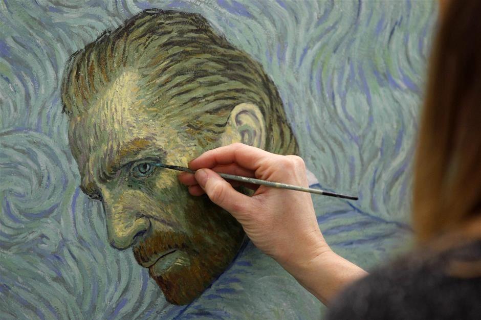 Loving Vincent: pinturas por segundo #arte #cine